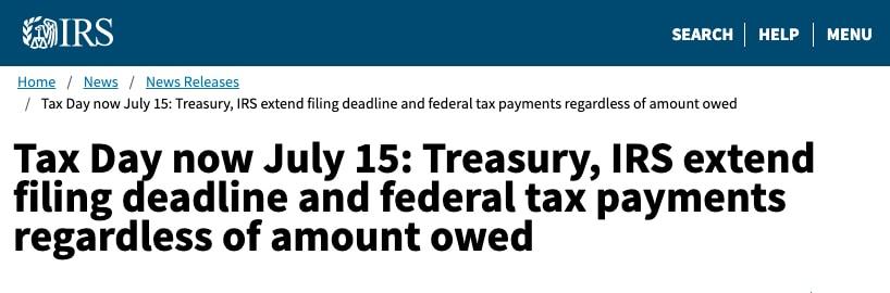 LLC Tax Filing Deadlines
