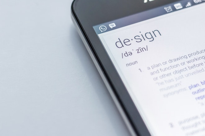 smartphone with design definition