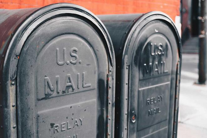 US mail boxes