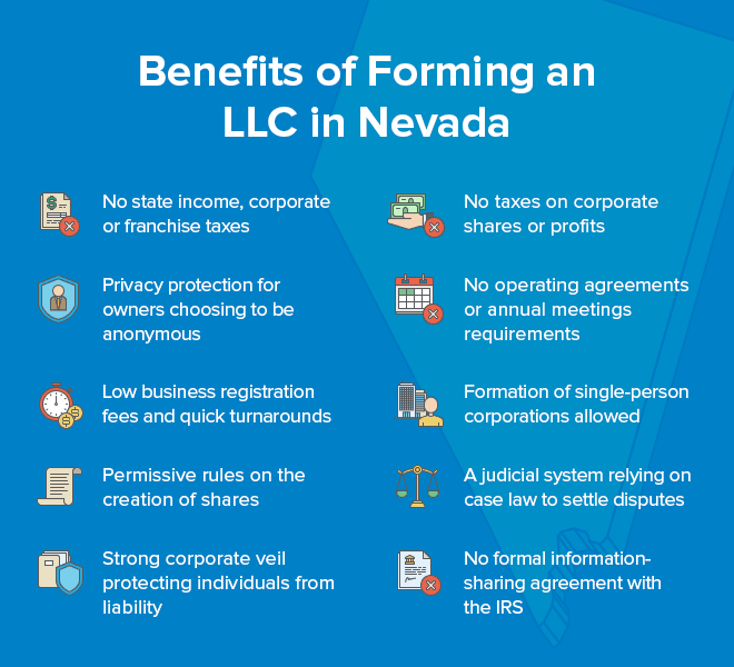 benefits of forming an llc in Nevada