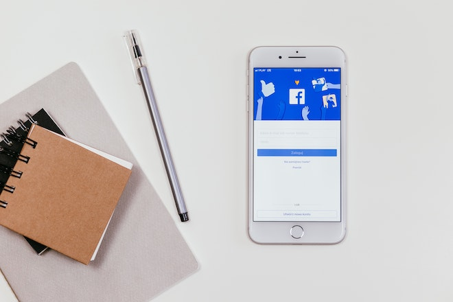 smartphone with facebook