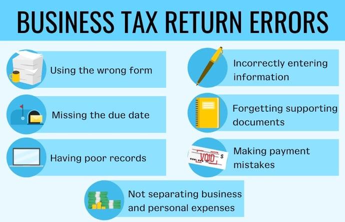 business tax return errors