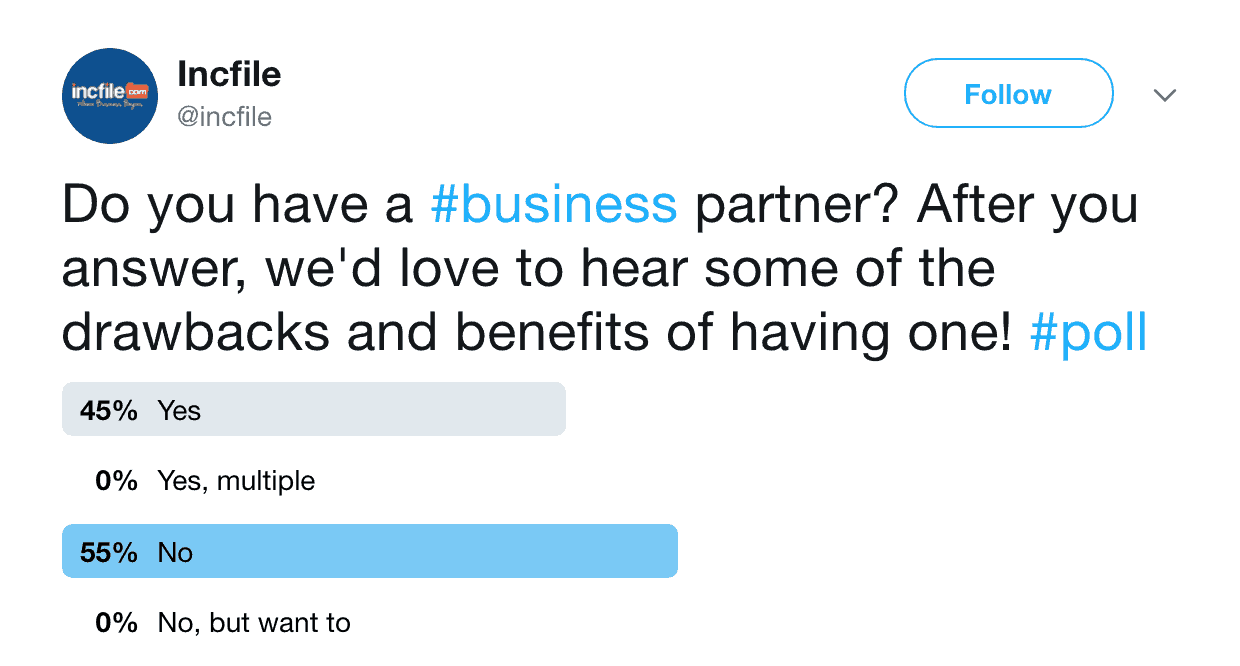 Poll Results: Business Partners, Yay Or Nay?